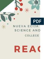 Reaction Paper Eugenio Bsn 2c
