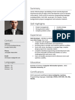 Coolfreecv Resume With Photo n