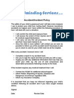 Child Minding Services - Policies