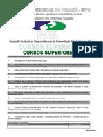 Prova Processo Seletivo Ipfp2015 Cursos Superiores