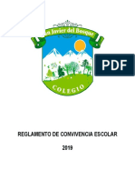 Reglamento Convivencia Escolar Colegio Javier del Bosque