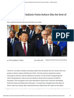 Xi Jinping and Vladimir Putin Behave Like the Best of Buddies - Unlikely Partners