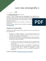 Cómo Hacer Una Monografía y APA