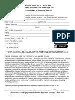 2019 patriot day 5k paper registration form  pdf