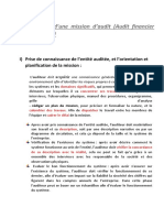 Mission d'Audit Financier