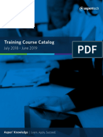 Aspentech Course Catalog Fy18