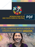Introduction to the 2030 Youth Force in the Philippines Inc 2Apr2019