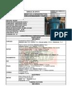 ficha tecnica de la maquina CII -R01- 01