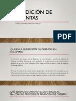 EXPOSICIÓN SOBRE UN MODELO DE Rendición de Cuentas