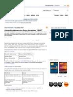Operações básicas com Banco de dados e VB
