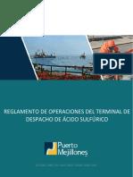Reglamento de Operaciones Del Terminal de Despacho de Ácido Sulfúrico