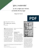 Religion y Modernidad