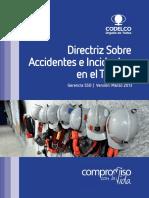 Directriz Sobre Accidentes de Incidentes en El Trabajo