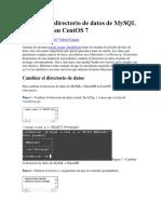Cambiar El Directorio de Datos de MySQL o MariaDB en CentOS 7