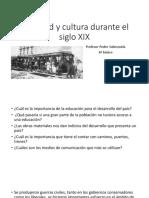 Sociedad y Cultura Durante El Siglo XIX 6 Basico