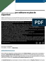 Apuesta AMLO Por Militares en Plan de Seguridad
