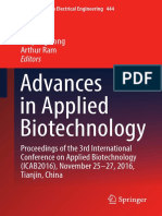 (Lecture Notes in Electrical Engineering 444) Hao Liu, Cunjiang Song, Arthur Ram (Eds.) - Advances in Applied Biotechnology_ Proceedings of the 3rd International Conference on Applied Biotechnology (I