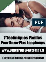 7 Techniques Faciles Pour Durer Plus Longtemps