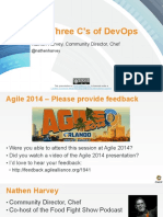 The Three C's of DevOps