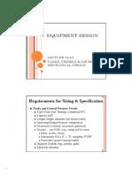 Equipment Design Lecture 12 13
