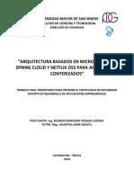 Arquitectura Basados en Microservicios Spring Cloud y Netflix Oss Para A_0