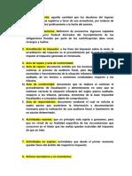 Glosario de Derecho Tributario