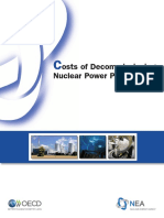 Costs of Decommissioning Nuclear Power Plants