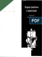 Pesquisa Qualitativa e Subjetividade Os Processos de Construcao Da Informacao