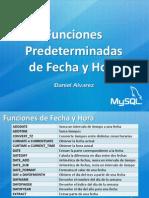 MySQL FuncionesPredeterminadasFecha