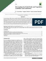 1.Edible Coating Limitation.possibilities