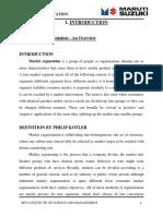 219790889 a Study on Market Segmentation a Study at Maruti Udyog Ltd