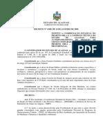 DECRETO No 4.098, DE 14 DE JANEIRO DE 2009. INSTITUI A COORDENAÇÃO ESTADUAL DO PROJETO ORLA E A COMISSÃO TÉCNICA DO ESTADO DE ALAGOAS PARA ACOMPANHAMENTO DO PROJETO DE GESTÃO INTEGRADA DA ORLA MARÍTIMA – PROJETO ORLA – CTE/AL E DÁ OUTRAS PROVIDÊNCIAS.