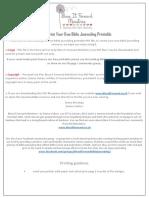 Celebrate Love Bible Journaling Reading Plan