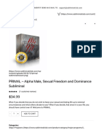 PRIMAL - Alpha Male, Sexual Freedom and Dominance Subliminal - SubliminalClub.pdf