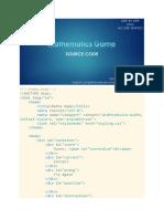 math game source code