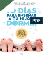 10 días para enseñar a tu hijo a dormir - Filipa Sommerfeldt Fernándes