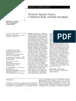 Journal of Neurology Volume 245 Issue 1 1997 [Doi 10.1007%2Fs004150050171] Fop Van Kooten; Michiel L. Bots; Monique M. B. Breteler; Frits H -- The Dutch Vascular Factors in Dementia Study- Rationale A