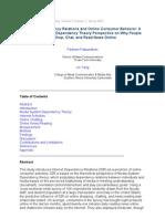 Internet Dependency Relations and Online Consumer Behavior