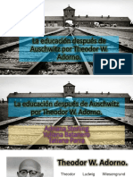 La Educación Después de Auschwitz Por Theodor W
