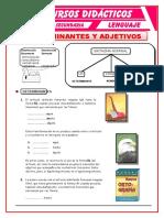 Determinantes y Adjetivos Para Cuarto de Secundaria