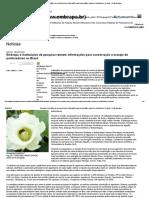 Embrapa e Instituições de Pesquisa Reúnem Informações Para Conservação e Manejo de Polinizadores No Brasil - Portal Embrapa