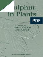 Sulfur in Plants