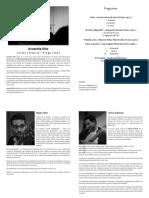 Programa y reseña - Acuarela Dúo