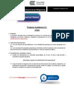Derecho de Obligaciones Producto Académico N°1