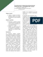 Parámetros Analíticos de Un Grupo de Estudiantes Del Programa de Biología de La Universidad Del Tolima