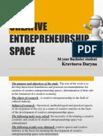 Creative Entrepreneurship Space
