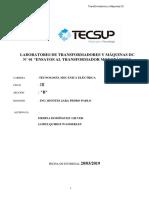 TRANSFORMADORES  LAB N°01