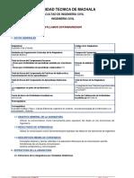 Syllabus de Expresión Oral Escrita