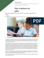Como Avaliar a Leitura Na Alfabetizacao