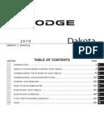 2010 Dakota Owners Manual